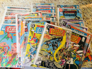 NICE~ JUSTICE LEAGUE OF AMERICA lot run 24 ISSUES 1984-86 JLA Copper age LOOK!