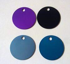 Piastrina Colorata Forma cerchio 30 mm con incisione