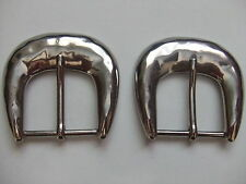 Lot Of 2 Hammered Style Nickel Plated Buckles By Rhode Island Buckle Co.USA