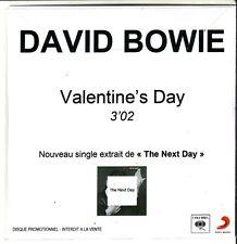 "DAVID BOWIE ""Valentine`s Day"" 1 Track PROMO CD RARE"