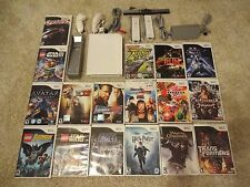 Nintendo Wii Console/Lot of 17 Games/Bundle Lego Star Wars Controllers Nunchuks