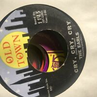 The Earls- Cry, Cry, Cry/Kissin- Old Town 1145- Doo Wop- VG++
