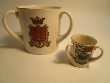 More details for goss 3 crests three handled cup porcelain china england yorkshire bradford