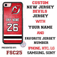 New Jersey Devils Personalized Hockey Jersey Phone Case Cover for iPhone etc.