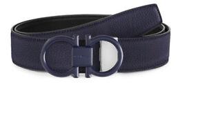 Salvatore Ferragamo Double Buckle Reversible leather belt $395 size 38