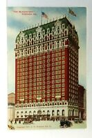 C.1911 Chicago Illinois The Blackstone Hotel Vintage Open Cars Postcard