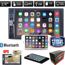 "7"" Double 2DIN Bluetooth Touch Car Stereo Audio MP3 Player FM Radio USB AUX GPS"