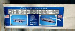 Dumas Civil War Ironclads USS Monitor CSS Viriginia Merrimack 1:72 Scale RC Boat
