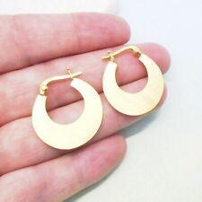Ringe Kreolen Creolen matt Design Ohrringe Hänger 925 Sterling Silber Gold neu