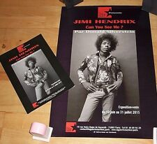 Used~Paris JIMI HENDRIX exhibition POSTER + FLYER Donald SILVERSTEIN photo image