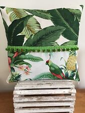 **STUNNING  TROPICAL SWAYING PALM INDOOR/OUTDOOR TOMMY BAHAMA CUSHION COVER *