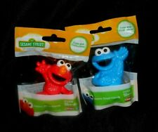 """Elmo and Cookie Monster Pvc Figure Sesame Street Playskool Preschool Toddler 3 """""""