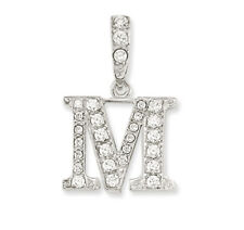 925 STERLING SILVER CUBIC ZIRCONIA INITIAL PENDANTS CZ LETTERS NAME CHAIN BOX