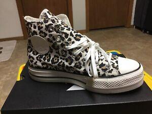 "women's ""Comverse"" chuck taylor all star platform high top sneakers, 8M, Leopard"