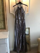 LIPSY SILVER SEQUIN LOW BACK MAXI DRESS SIZE 10 BNWT