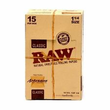 """5 Packs x RAW Artesano 1 1/4"""" Rolling Papers with Tips & Rolling Tray"""