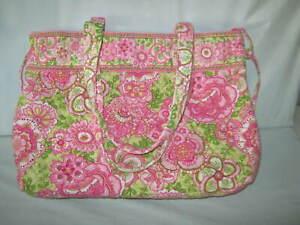 Vera Bradley Tie Tote PETAL PINK Shoulder Bag PURSE 10 x 13 x 4.5 GUC