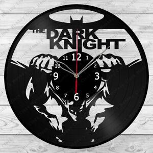 Vinyl Clock The Dark Knight Vinyl Record Wall Clock Home Art Decor Handmade 4925