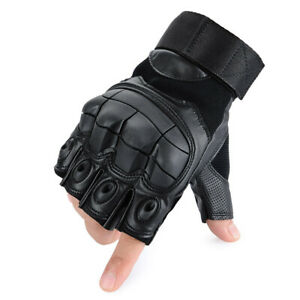 Army Military Combat Tactical Half Finger Gloves Hunting Shooting Motorcycle Men
