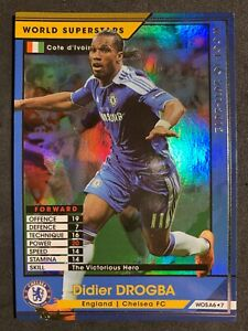 2011-12 Panini WCCF World Superstars WOS Didier Drogba Chelsea refractor card