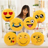 32cm Round Smiley Emoticon Stuffed Plush Toy Doll Pillow Case Cover CA