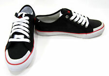 Polo Ralph Lauren Shoes Chancery Athletic Canvas Black/Red Sneakers Size 8.5