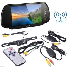 "Wireless 7"" TFT LCD Car Rear View Mirror Monitor with HD Reverse Backup Camera"