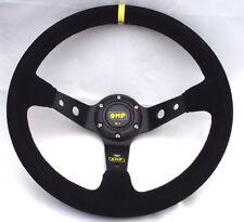 Universal 350mm Racing Sport OMP-Style Suede deep dish Steering Wheel JDM Rall