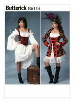 Butterick  B6114 Pirate,Wench,Saloon Girl,Steampunk Costume Pattern sizes 14- 22