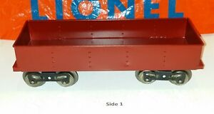 Lionel SG #112 Gondola, red, restored w/ correct paint, very nice!