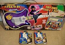 FISHER PRICE I CAN PLAY GUITAR SYSTEM W/ 3 CARTRIDGES L6356 PURPLE NEW