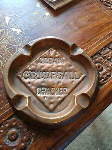 Antique Copper Advertising Ashtray. Crumpsall Cream Crackers