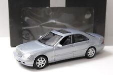 1:18 Maisto Mercedes S-Klasse Limousine silver DEALER NEW bei PREMIUM-MODELCARS