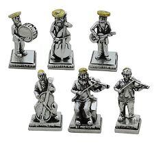 Judaica Figurine Six Hassidim Band 925 Silver Plated Israel Gift
