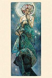 The Moon by Alphonse Mucha Art Print Poster  36x24
