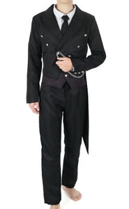 Black Butler Cosplay Kostüm Costume von Sebastian Michaelis Herren Karneval