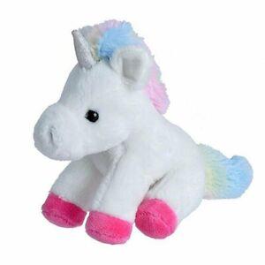 """Wild Republic Pocketkins White Unicorn 5"""" Soft Plush Toy"""