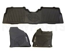Toyota Prius V 2012-2017 Set of 3 Black Floor Liners All Weather Floor Mats OES