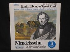MENDELSSOHN ~ The Italian Fourth Symphony (SEALED) Funk & Wagnalls ~ RCA CUSTOM