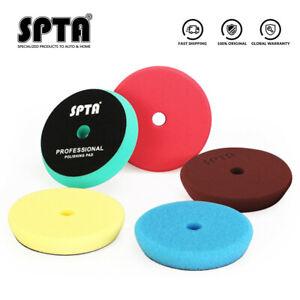 SPTA 5Pcs 6Inch Sponge Polishing Pads Buffing Pads For Car Polishing DA Polisher