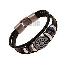 Fashion Vintage Punk Style Leather Infinity Wrap Bracelet Jewelry Charm