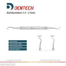 "BALL BURNISHER 1.5 - 2.5 MM DENTAL PLUGGER HAND INSTRUMENTS SCALER ""CE"""