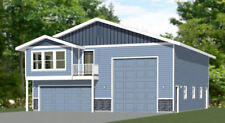 40x48 Apartment with 2-Car 1-RV Garage - PDF FloorPlan - 1,350 sqft - Model 1A