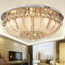 Dimmeble LED Crystal Ceiling Light Flush Mount Ceiling Lamp Light Fixture Remote