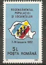 Romania 1991 Flag Map Sc # 3693 Mnh