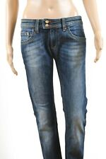 Iceberg Faded Flared Denim Blue jeans Low Waisted W28 Uk10 S Stunning Look