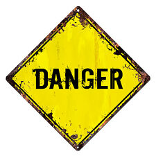 DS-0010 DANGER Diamond Sign Rustic Chic Sign Bar Shop Home Decor Gift