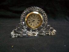 Godinger Crystal Legends Desk Clock Handcrafted 24% Lead Crystal W. Germany