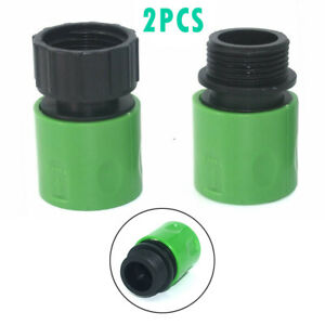 """3/4"""" Female & Male Hose Pipe Tap Fitting Set Garden Watering Connector Adaptor"""