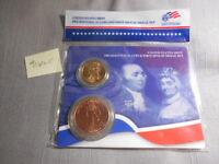 2007 US Mint Presidential Adams $1 Coin Spouse Bronze Medal Set
